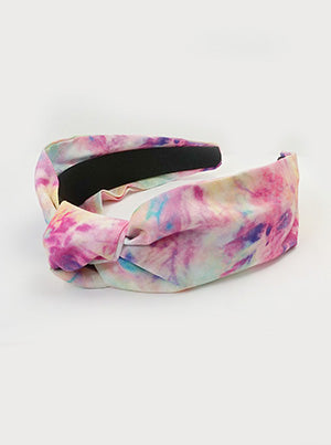Bright Knotted Tie Dye Headband