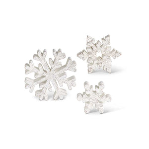 Small Wooden Whitewashed Snowflakes (Grad Sizes)
