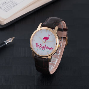 Unisex 30 Meters Waterproof Quartz With Brown Genuine Leather Band