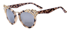 MERRY'S Fashion Flower Crystal Decoration Women Sun glasses Women Brand Design Butterfly Sun glasses 5 Color