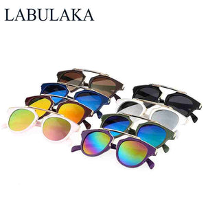 LABULAKA Vintage Children Sun Glasses Brand Designer Kids Sunglasses Baby UV400 Sun-Shading Eyeglasses Boys Girls Glass Oculos