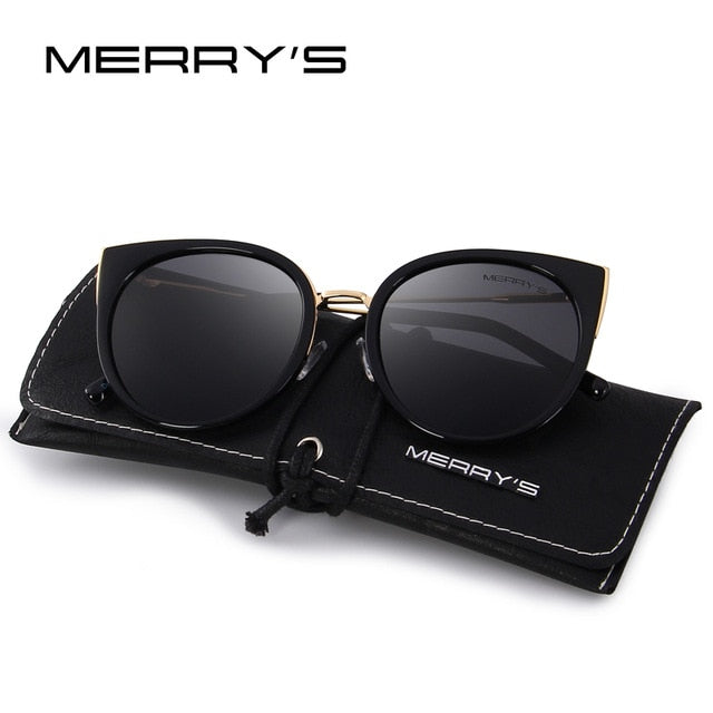 MERRY'S Women Classic Brand Designer Cat Eye Polarized Sunglasses Fashion Sun Glasses S'6018