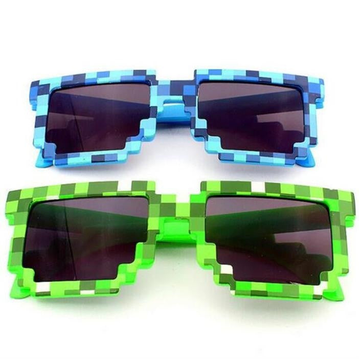 Sunglasses Creeper Glasses Square Novelty Mosaic Sun Glasses Men Women Boys Children Pixel abstract Eyewares