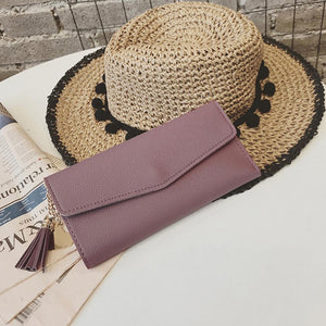 Long Women Clutch Wallet Large Capacity Wallets Female Purse Lady Purses Phone Pocket Card Holder Carteras Tassel Coin Purse
