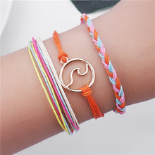 Load image into Gallery viewer, 3Pcs Wave Charm Bracelets