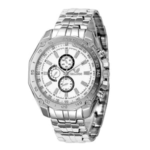 Men Quartz Casual Business Round