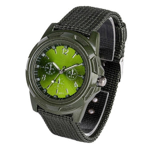 Men's Round Textile Round Quartz Watch