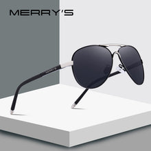 Load image into Gallery viewer, MERRY'S Men Classic Pilot Sunglasses HD Polarized Aluminum Driving Sun glasses Luxury Shades UV400 S'8513