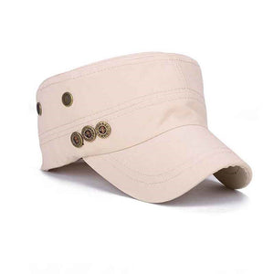 Men Women  Plain Vintage Hat Cadet Military Baseball Adjustable Cap