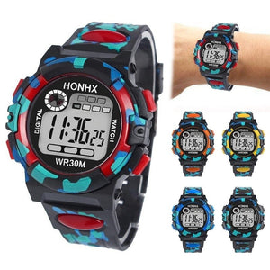 Students Waterproof Multifunctional Kids LED Watch Wristwatches Children's Watch Electronic Watch 5 Colors