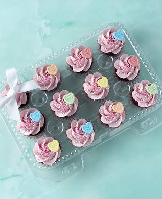 Conversation Heart Mini Cupcakes