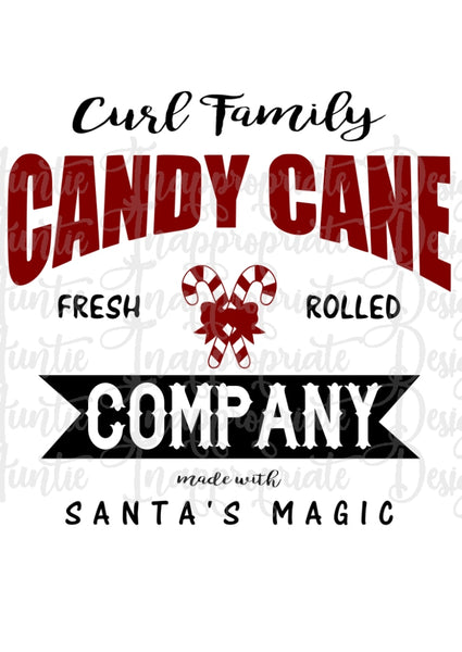 Candy Cane Company Digital Svg File Auntie Inappropriate Designs