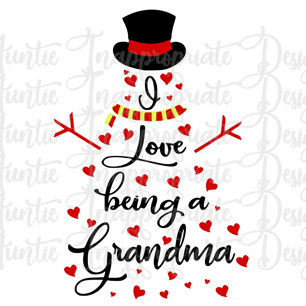 Download I Love Being A Nana Svg Image