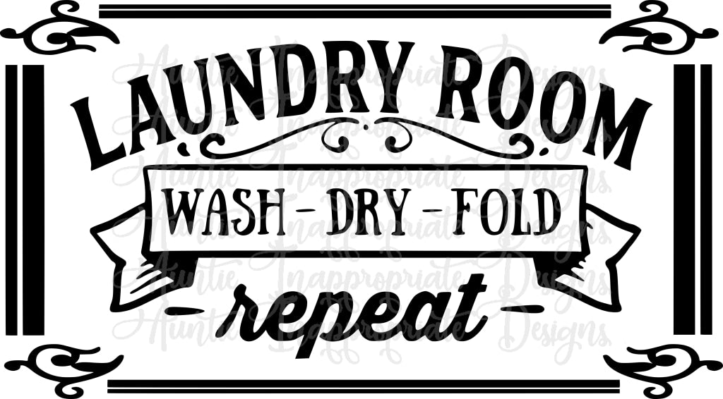 Laundry Room Svg File Auntie Inappropriate Designs