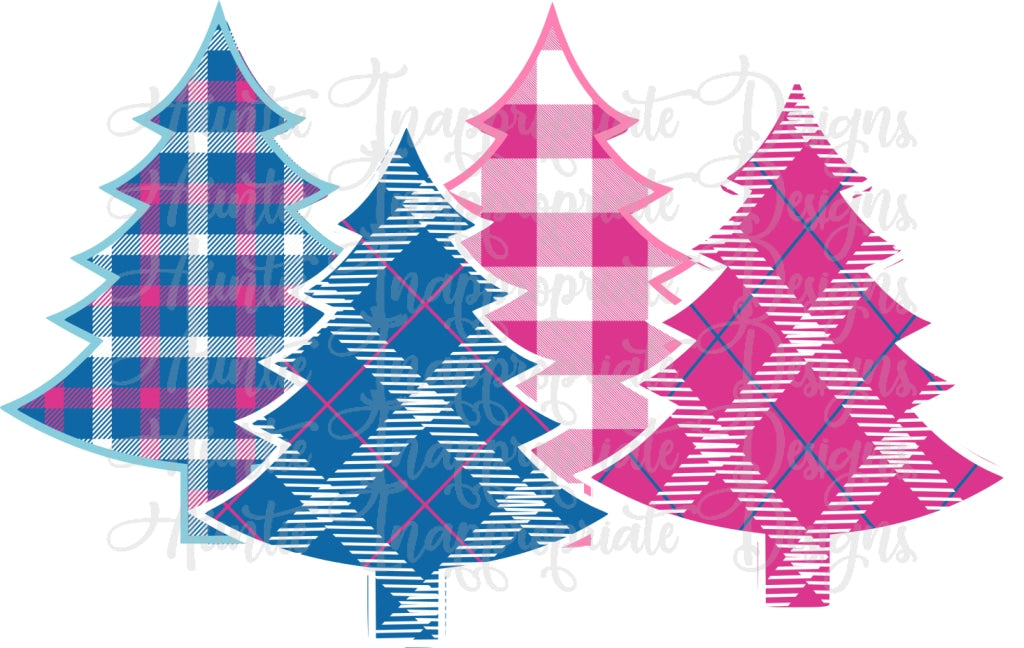 Plaid Christmas Trees Sublimation File Png Printable Sublimation Shi Auntie Inappropriate Designs