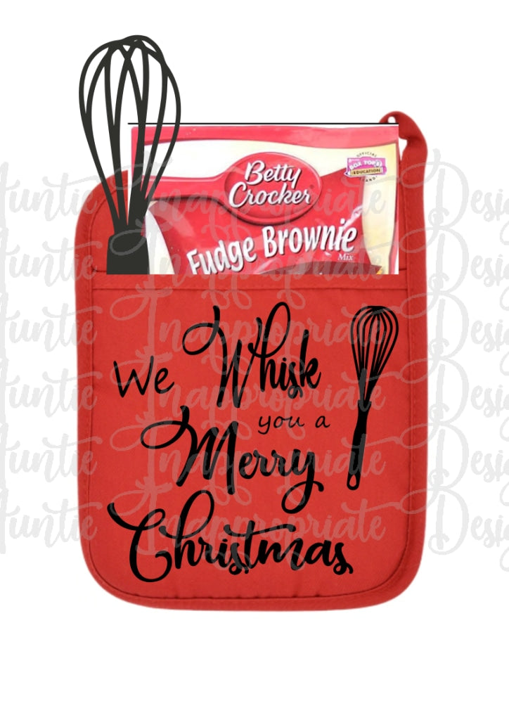 We Whisk You A Merry Christmas Auntie Inappropriate Designs