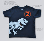 Dinosaur Birthday T-Shirt, Triceratops shirt, Dinosaur Party theme shirt
