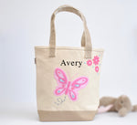 Personalized Medium Butterfly Tote, Girls Preschool tote Bag