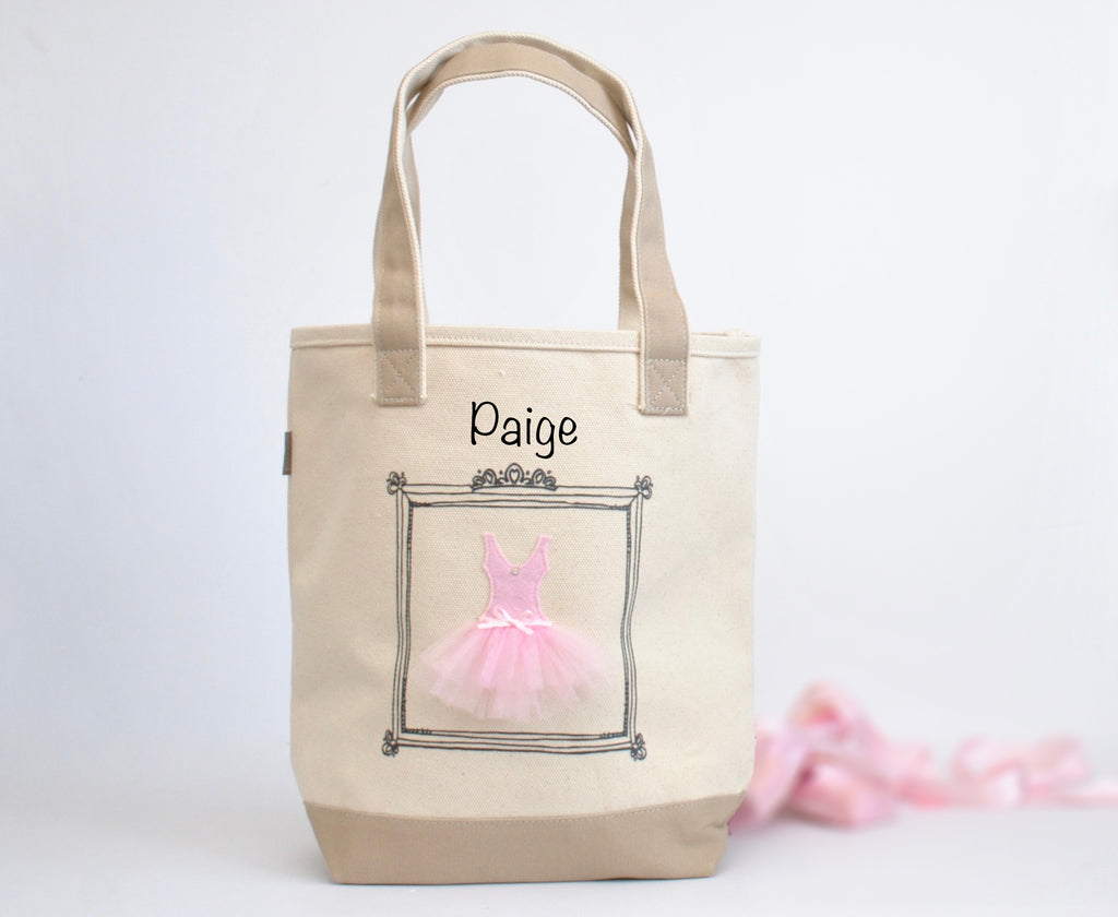 Personalized Medium Ballerina Tote, Tutu Dance bag