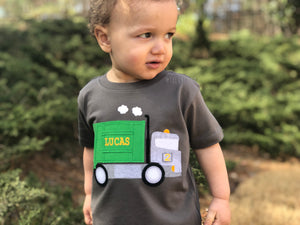 Garbage Truck Birthday T-Shirt, Garbage Truck Party theme