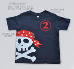 Pirate Birthday Shirt, Pirate Party theme shirt