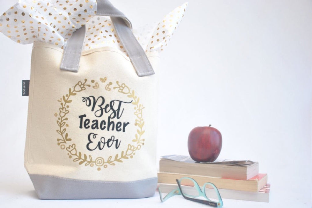 Best Teacher Ever Tote Bag Kindergarten, Preschool teacher appreciation gift