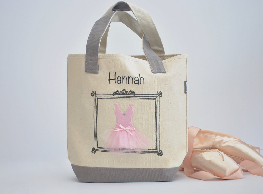 Small Personalized Ballerina Tote, Tutu Dance bag