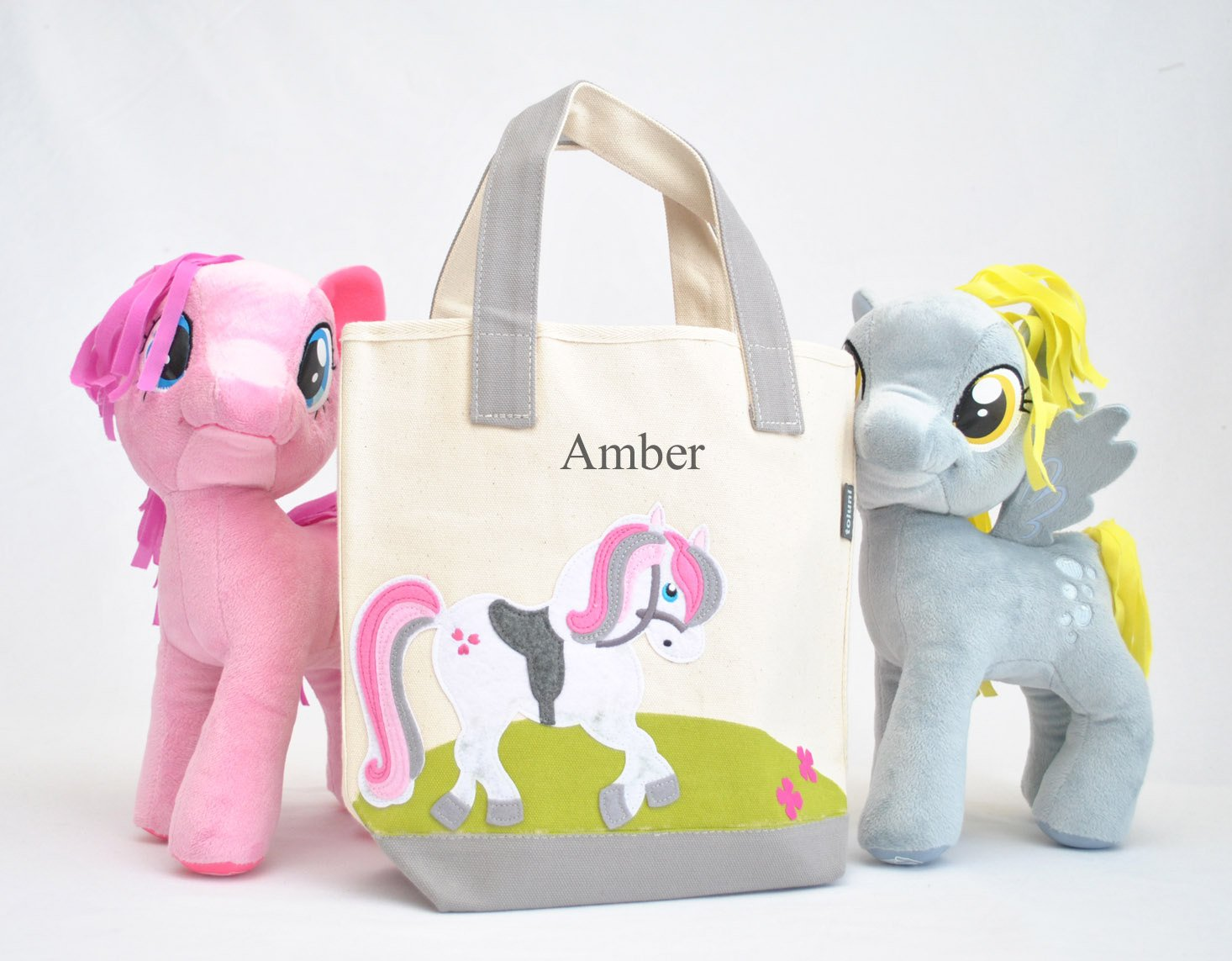 Small Personalized Unicorn Tote bag, Girls Preschool tote Bag