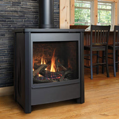 Kingsman FDV451 Direct Vent Stove with Flame Design on the side panels