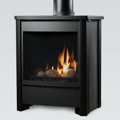 Kingsman FDV451 gas stove with cannonball flame display