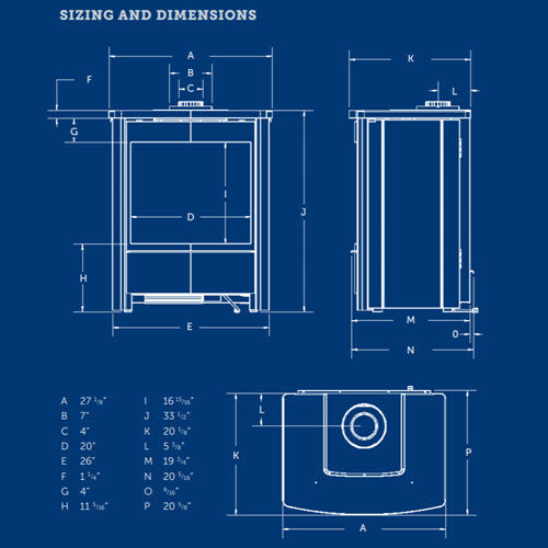 Kingsman FDV451 sizing and dimensions diagram