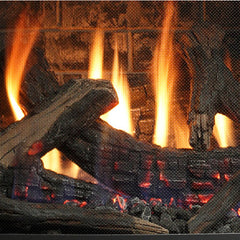 Oak Log Set Flame Display for Kingsman FDV451