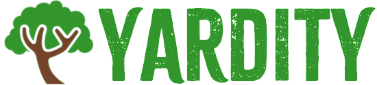 Yardity logo with a tree and stylized Yardity text