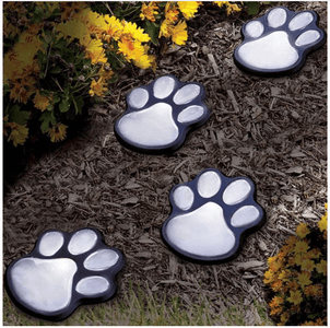 Paw Print Garden Lights