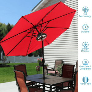 Detachable Patio Umbrella Light