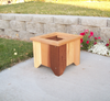 "Wood Country Square Cedar Planter  16""L x15""W x13""H"