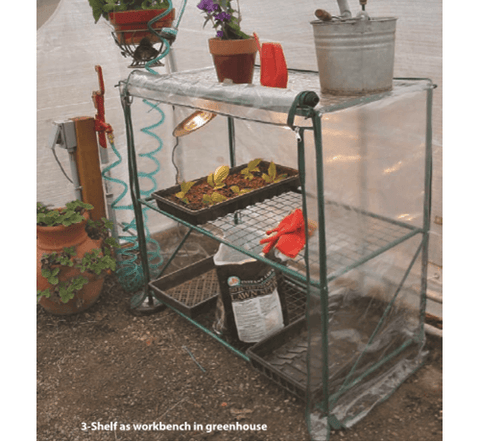 Early Start 3 Shelf Workbench Greenhouse
