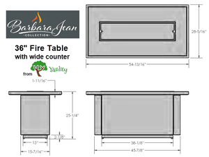 Barbara Jean Linear Fire Table - Luxury Bundle
