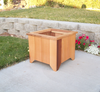 "Wood Country Square Cedar Planter  21""L x20""W x17""H"