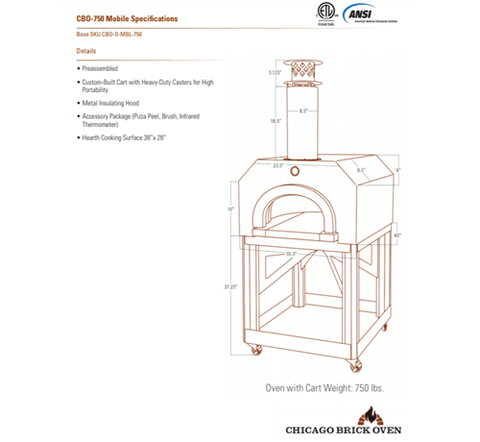 Image of Chicago Brick Oven CBO-750 Mobile - Copper Vein coloring