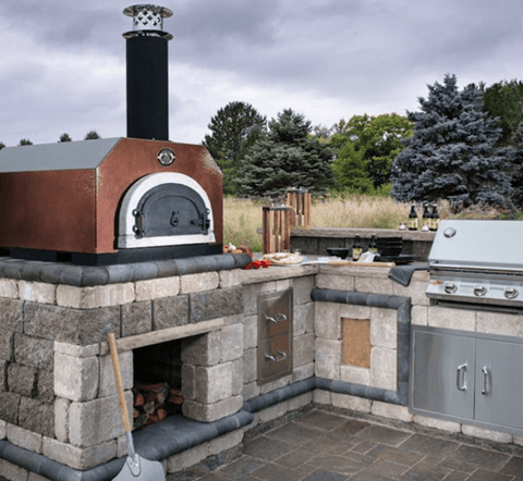 Image of Chicago Brick Oven CBO-500 Countertop - Silver Vein coloring