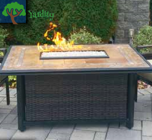 Hudson River - Calumet Rectangle Fire Pit Table