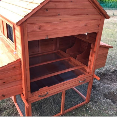 Chicken Coop with Chicken Run open end