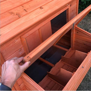 Chicken Coop with Chicken Run Access Panel to Nesting Boxes