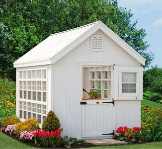 Colonial Gable Greenhouse 8' x 12' DIY Kit