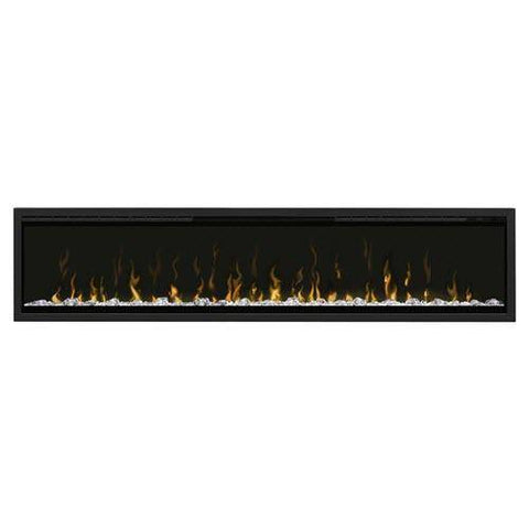 "Dimplex XLF74 Ignite XL 74"" Electric Fireplace with white media displayed"