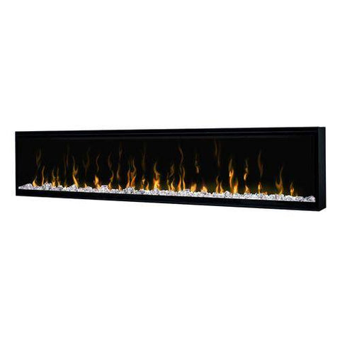 "Image of Dimplex XLF74 Ignite XL 74"" Electric Fireplace on a white background tilted front view"