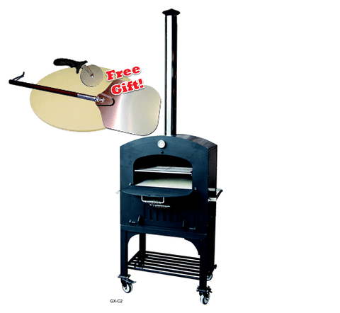 Image of Tuscan Chef GX-C2 Wood Fired Oven on Cart