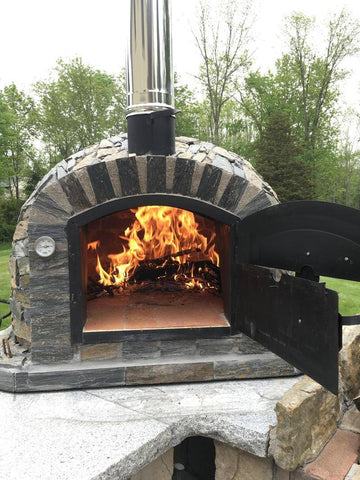 Image of Authentic Pizza Ovens - Lisboa Pizza Oven - Stone Finish