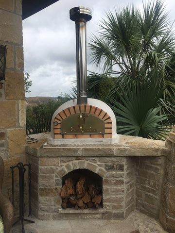 Authentic Pizza Ovens - Pizzaioli with Terracotta Arch